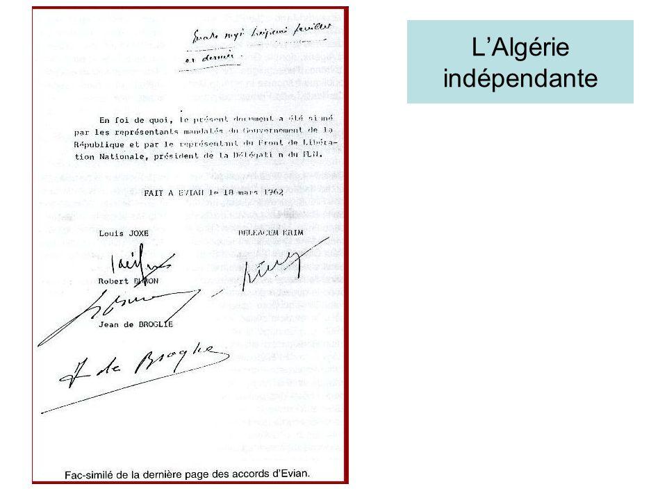 L'Algérie indépendante