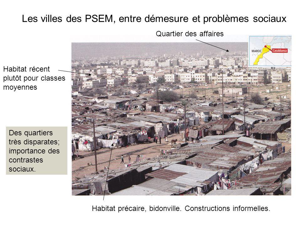 Les villes des PSEM, entre démesure et problèmes sociaux