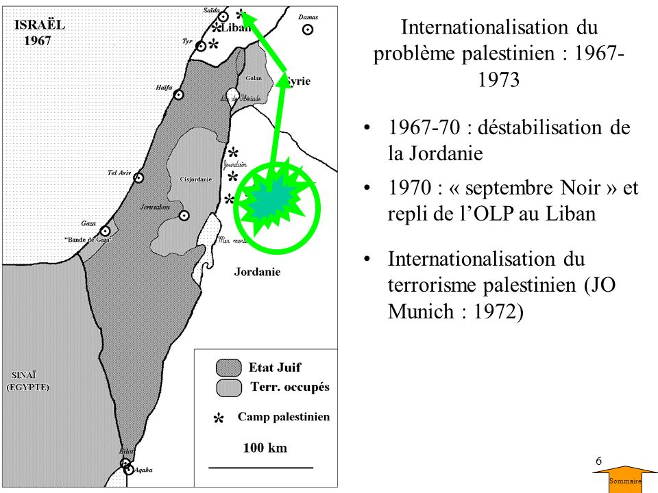 Internationalisation du problème palestinien : 1967-1973