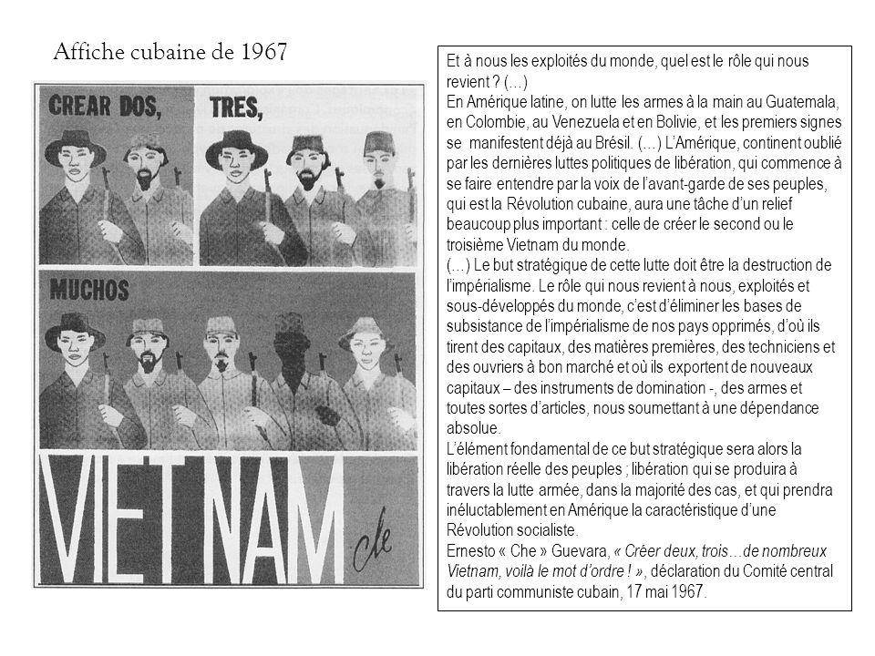 Affiche cubaine de 1967 Et à nous les exploités du monde, quel est le rôle qui nous revient (…)