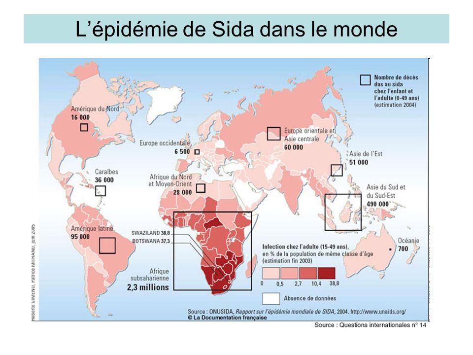 L'épidémie de Sida dans le monde