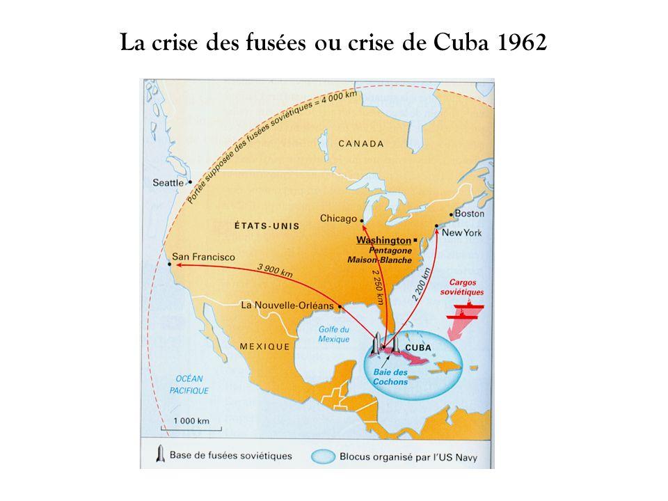 La crise des fusées ou crise de Cuba 1962