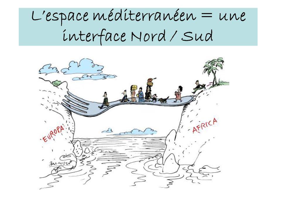 L'espace méditerranéen = une interface Nord / Sud