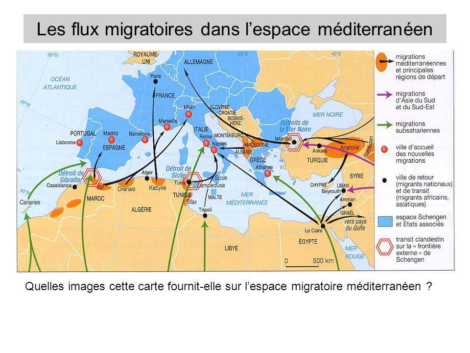 Les flux migratoires dans l'espace méditerranéen