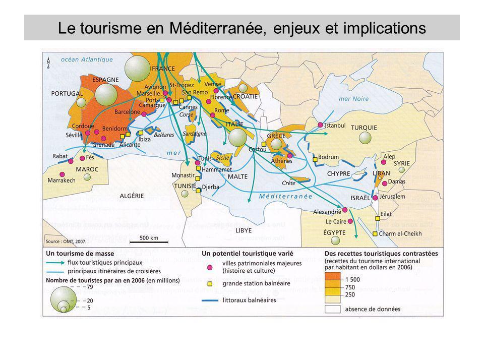 Le tourisme en Méditerranée, enjeux et implications