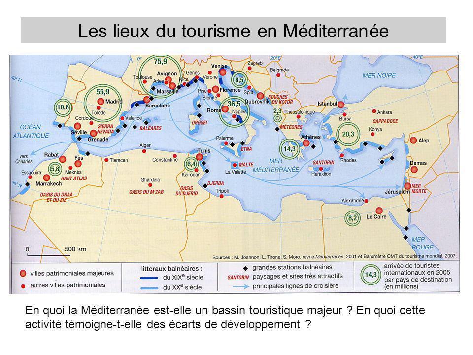 Les lieux du tourisme en Méditerranée