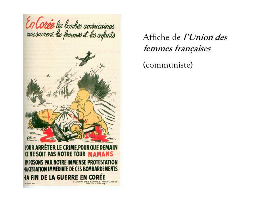 Affiche de l'Union des femmes françaises