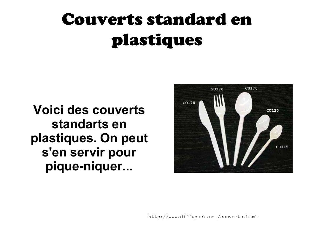 Couverts standard en plastiques