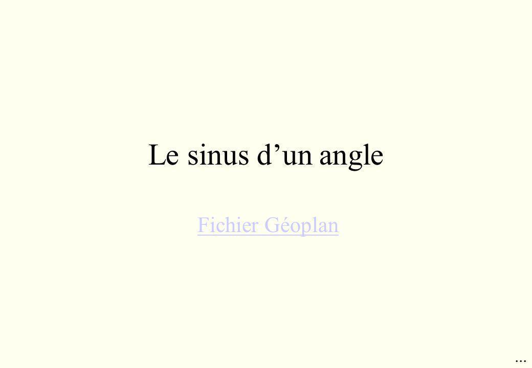 Le sinus d'un angle Fichier Géoplan ...