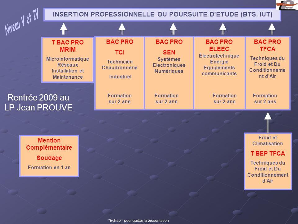 INSERTION PROFESSIONNELLE OU POURSUITE D'ETUDE (BTS, IUT)