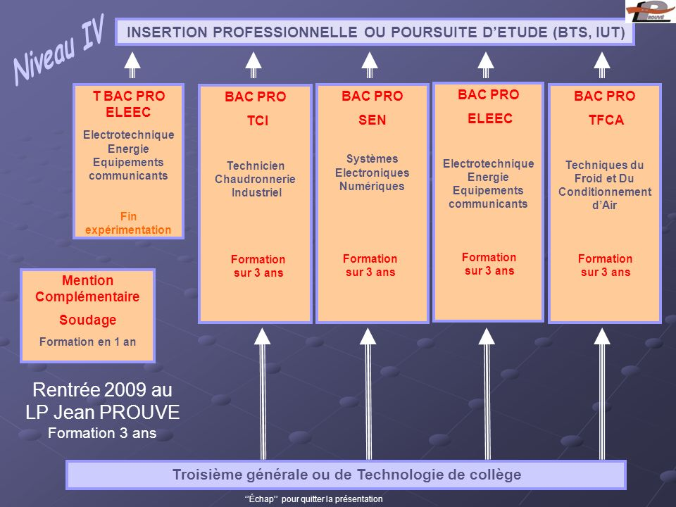INSERTION PROFESSIONNELLE OU POURSUITE D'ETUDE (BTS, IUT)