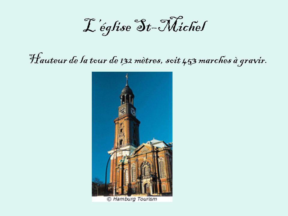 L'église St–Michel Hauteur de la tour de 132 mètres, soit 453 marches à gravir.