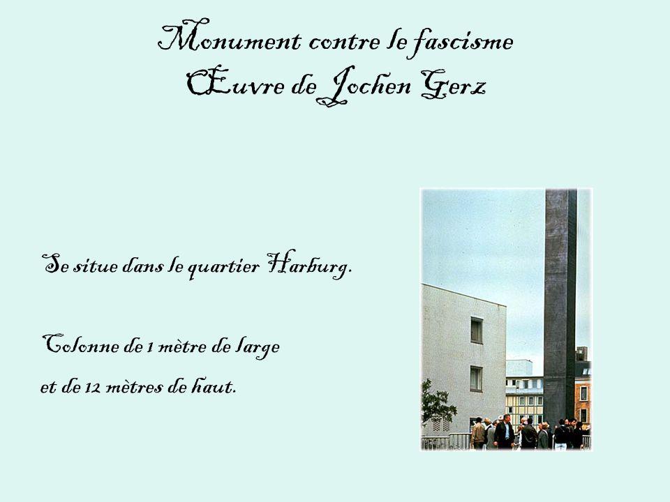 Monument contre le fascisme Œuvre de Jochen Gerz