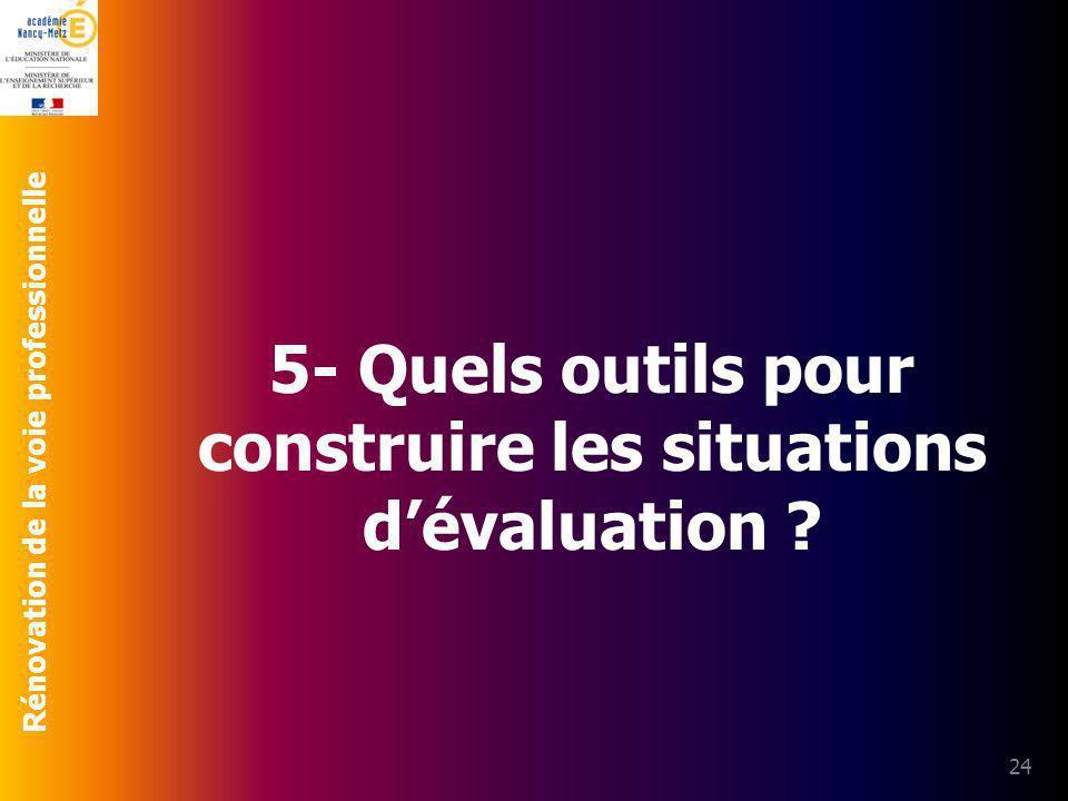 5- Quels outils pour construire les situations d'évaluation