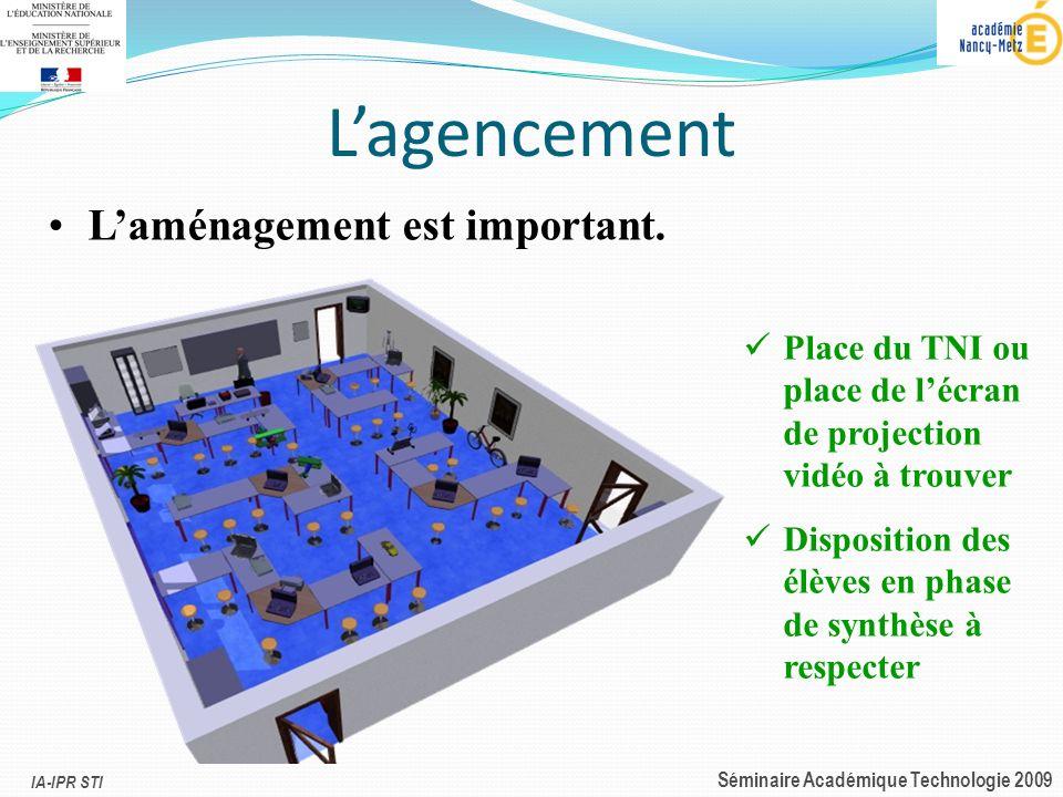 L'agencement L'aménagement est important.