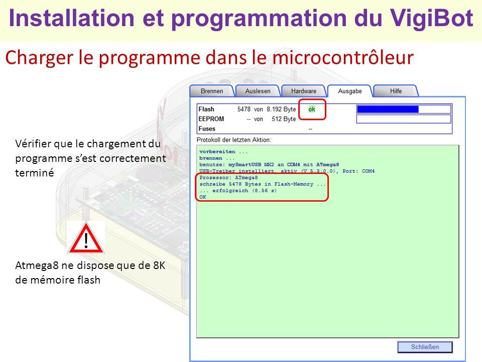 Charger le programme dans le microcontrôleur