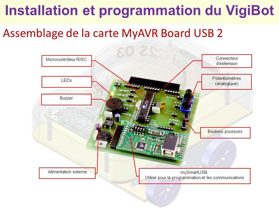 Assemblage de la carte MyAVR Board USB 2
