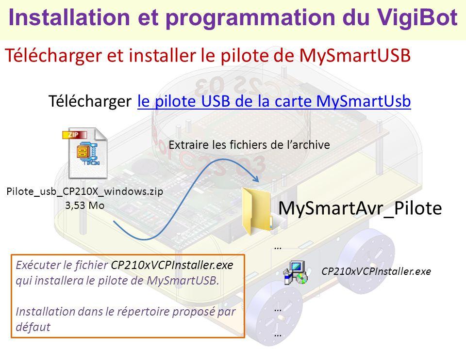 Télécharger et installer le pilote de MySmartUSB