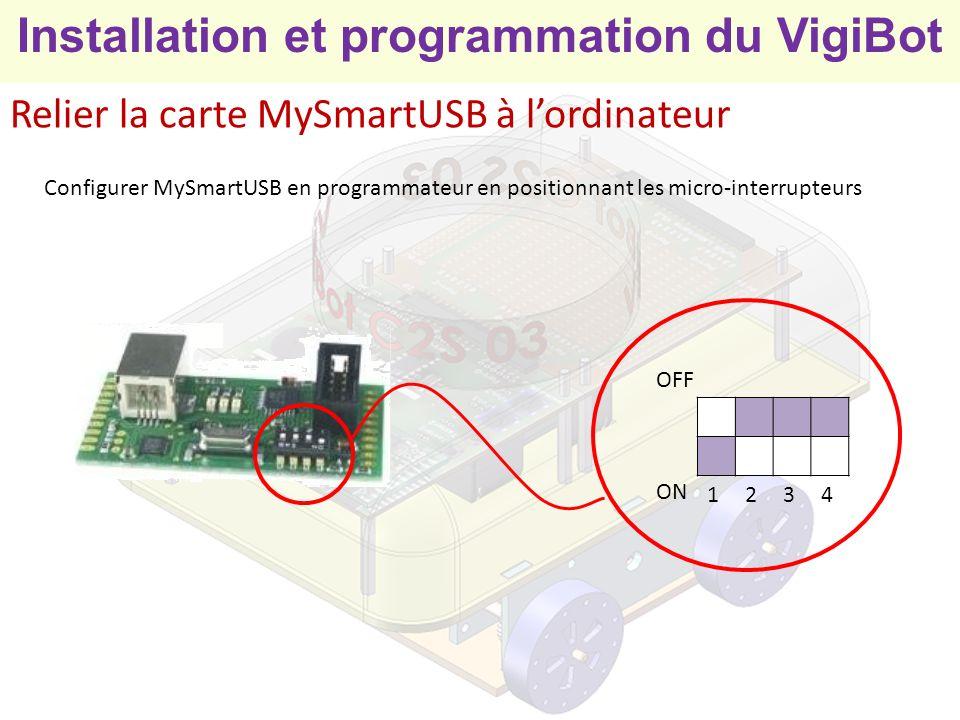 Relier la carte MySmartUSB à l'ordinateur