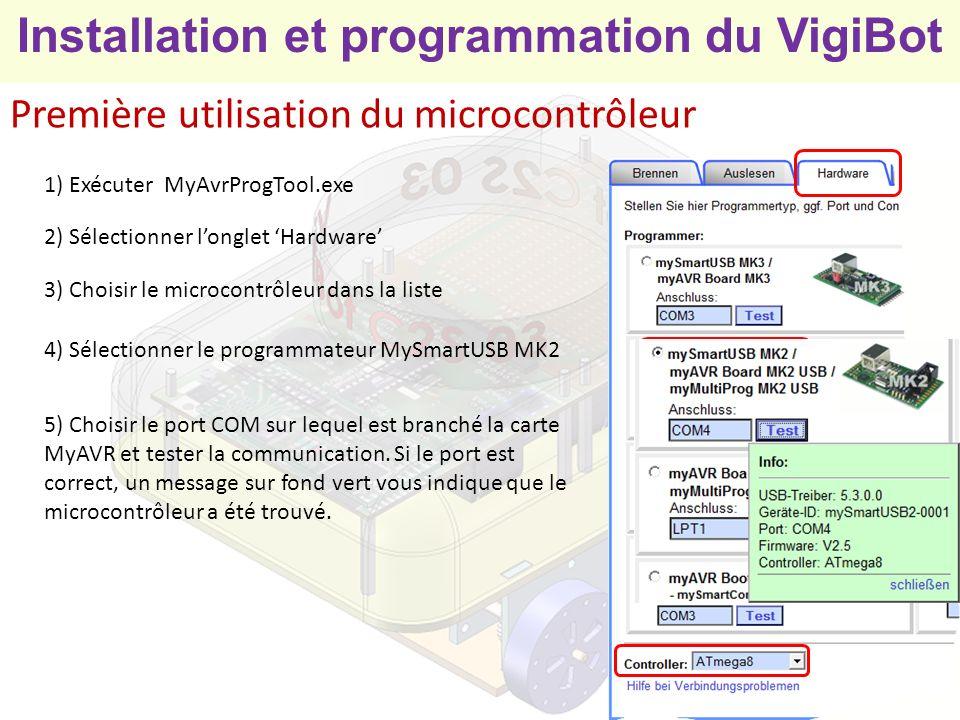 Première utilisation du microcontrôleur