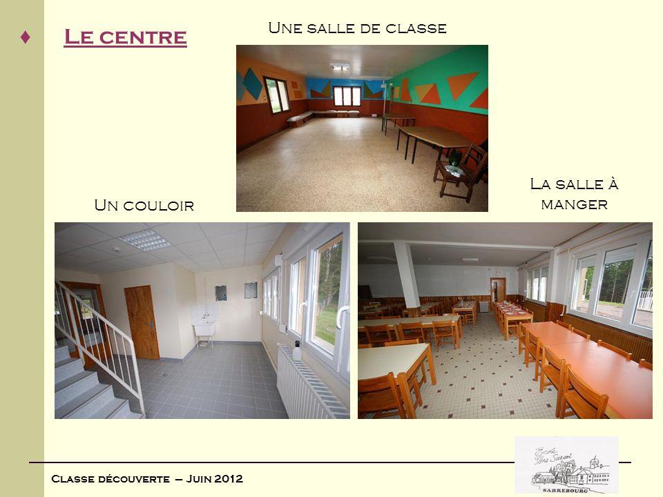 Une salle de classe La salle à manger Un couloir