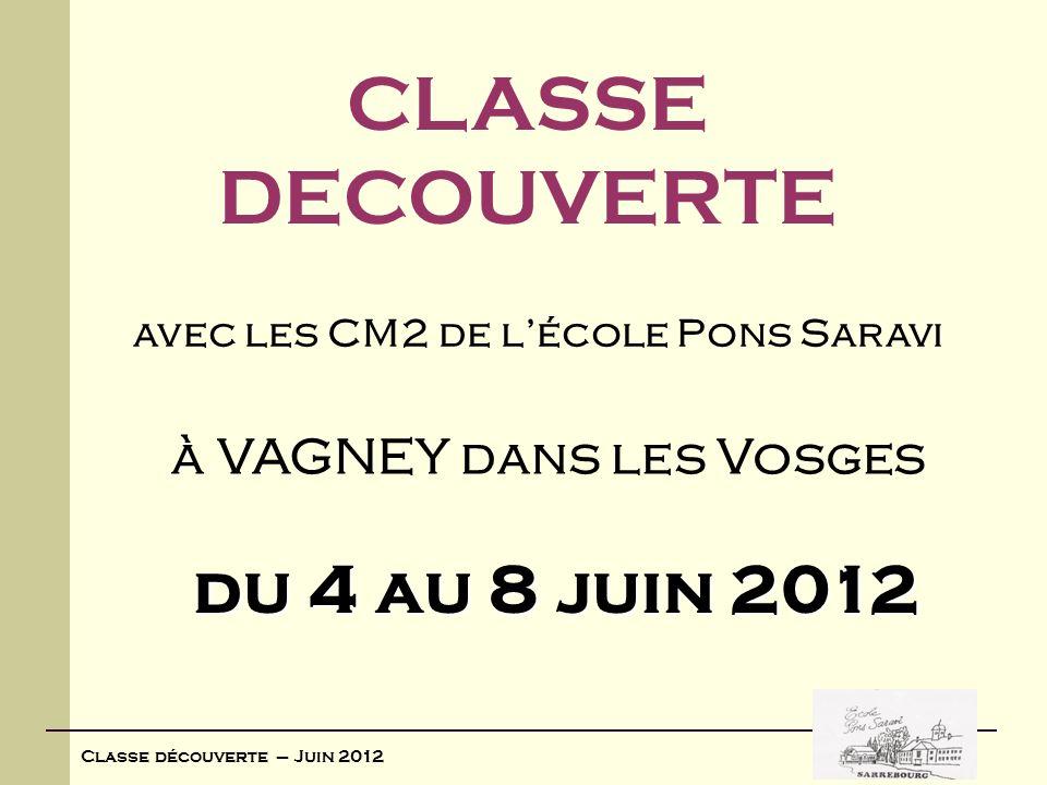 avec les CM2 de l'école Pons Saravi à VAGNEY dans les Vosges