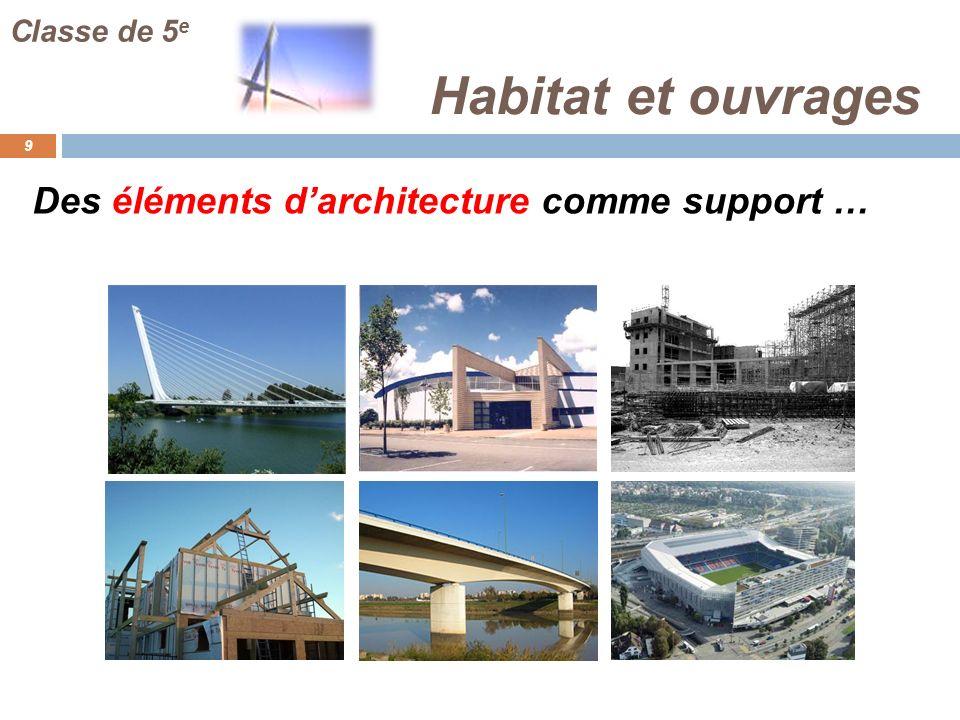 Habitat et ouvrages Des éléments d'architecture comme support …