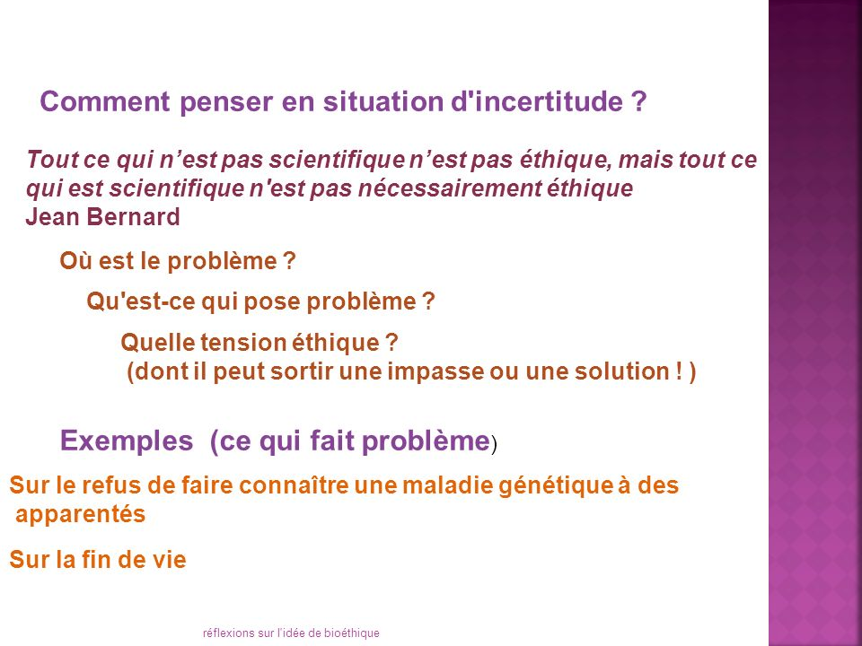 Comment penser en situation d incertitude