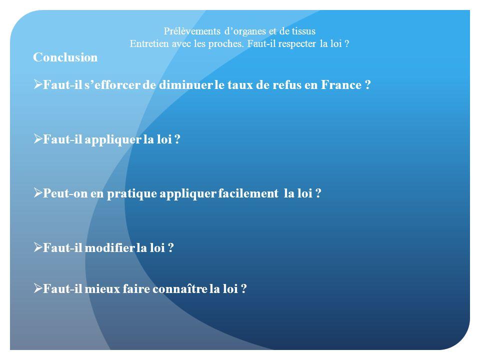Faut-il s'efforcer de diminuer le taux de refus en France