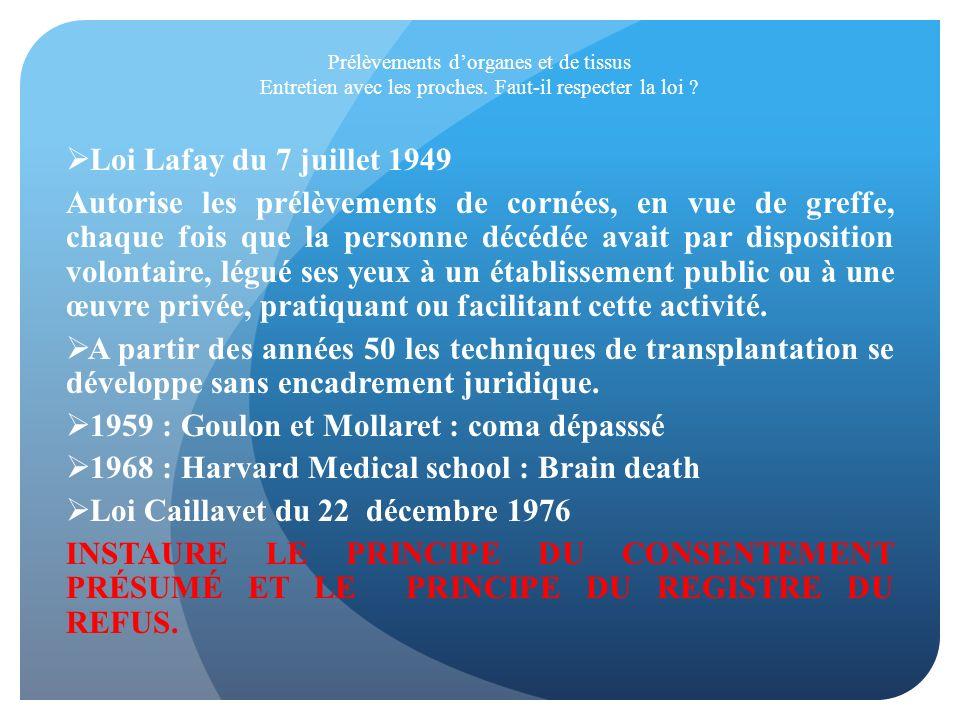1959 : Goulon et Mollaret : coma dépasssé