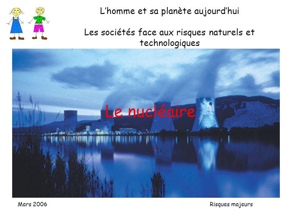 L'homme et sa planète aujourd'hui Les sociétés face aux risques naturels et technologiques