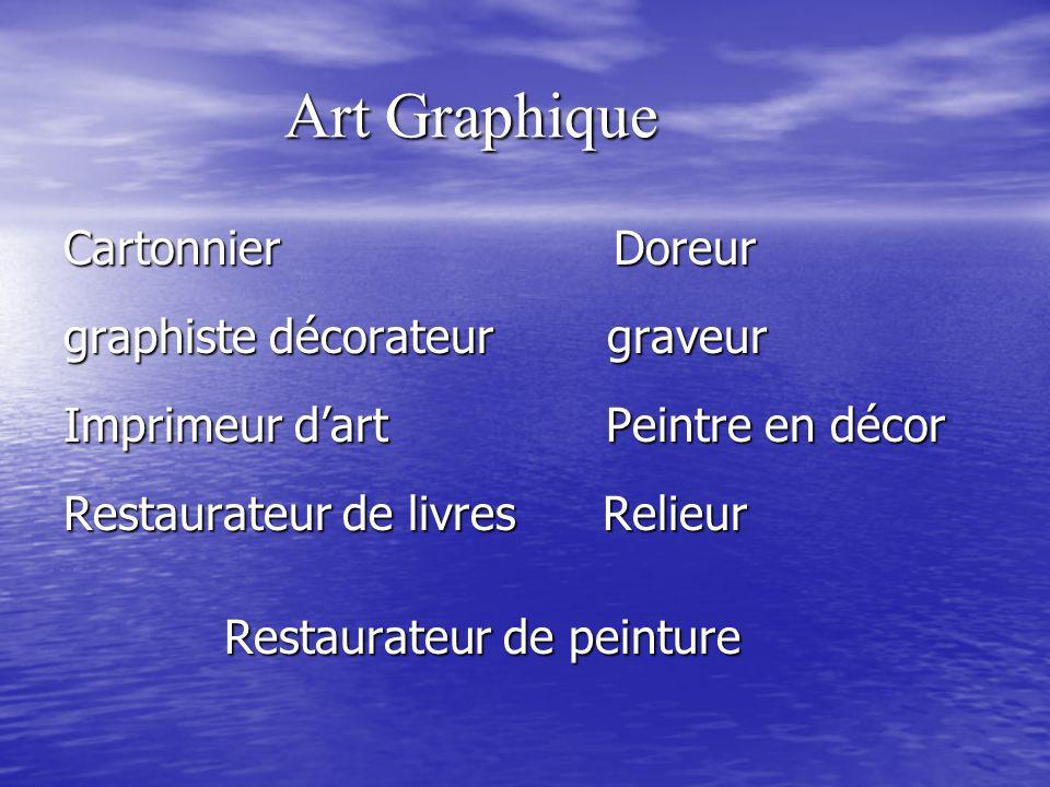 Art Graphique Cartonnier Doreur graphiste décorateur graveur