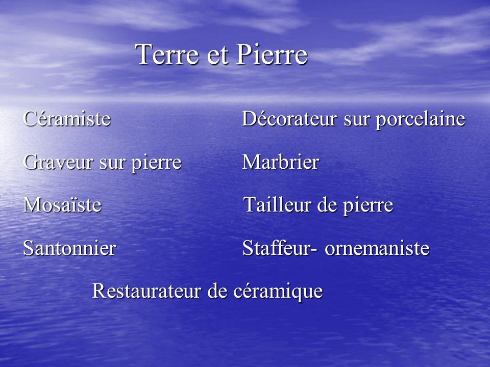 Terre et Pierre Céramiste Décorateur sur porcelaine