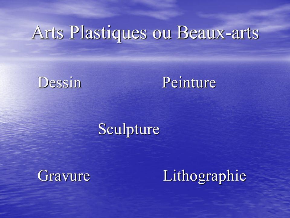 Arts Plastiques ou Beaux-arts