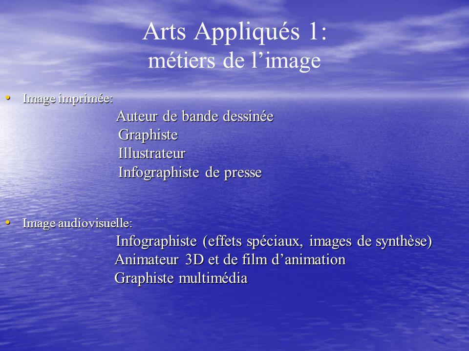 Arts Appliqués 1: métiers de l'image