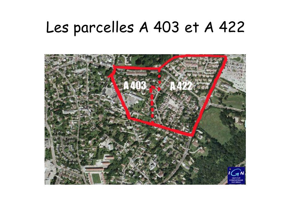 Les parcelles A 403 et A 422