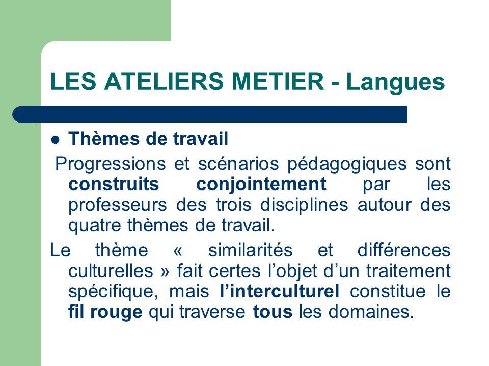 LES ATELIERS METIER - Langues