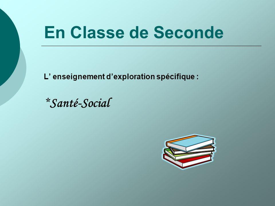 En Classe de Seconde *Santé-Social