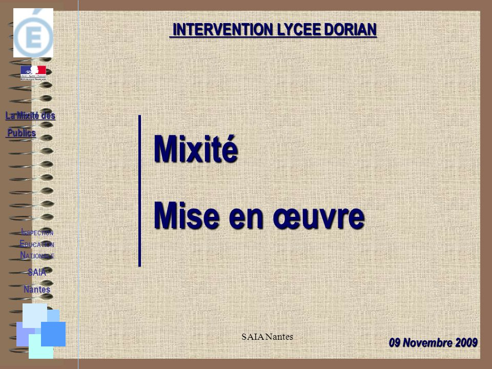 INTERVENTION LYCEE DORIAN INSPECTION EDUCATION NATIONALE