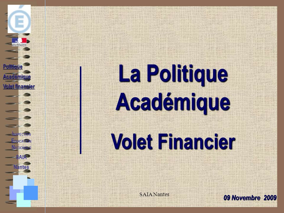 La Politique Académique INSPECTION EDUCATION NATIONALE