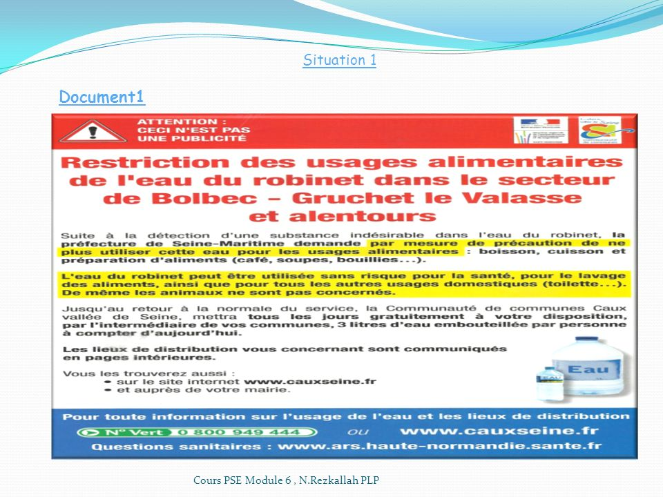 Situation 1 Document1 Cours PSE Module 6 , N.Rezkallah PLP