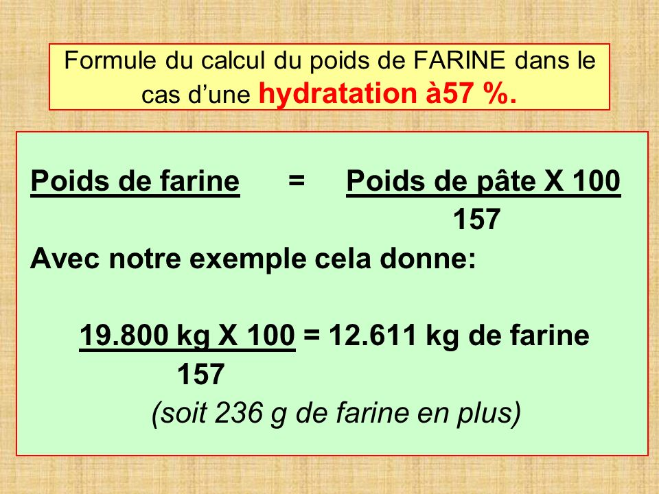 (soit 236 g de farine en plus)