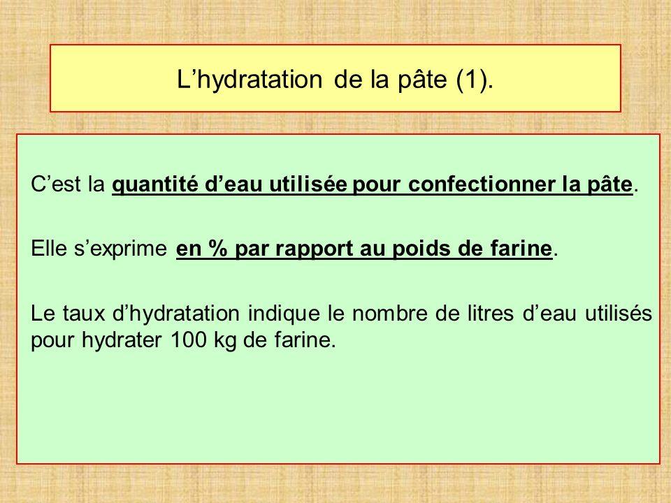 L'hydratation de la pâte (1).