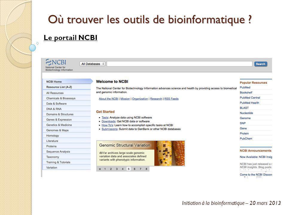 Où trouver les outils de bioinformatique