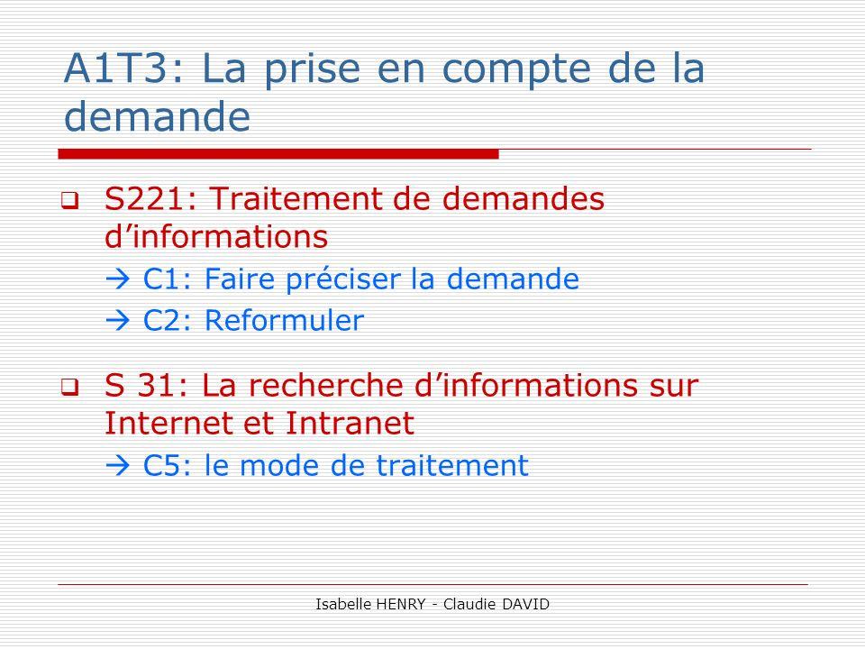 A1T3: La prise en compte de la demande