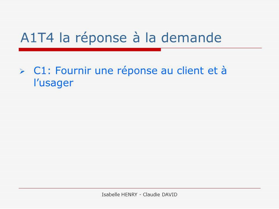 A1T4 la réponse à la demande