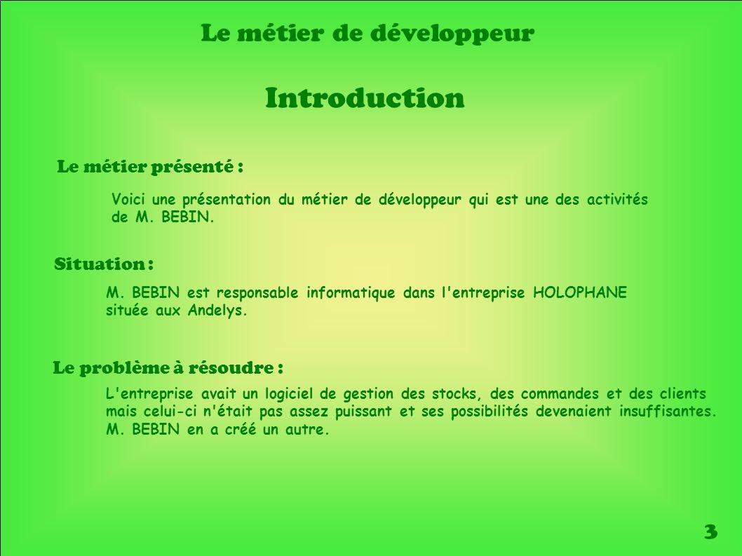 Le métier de développeur