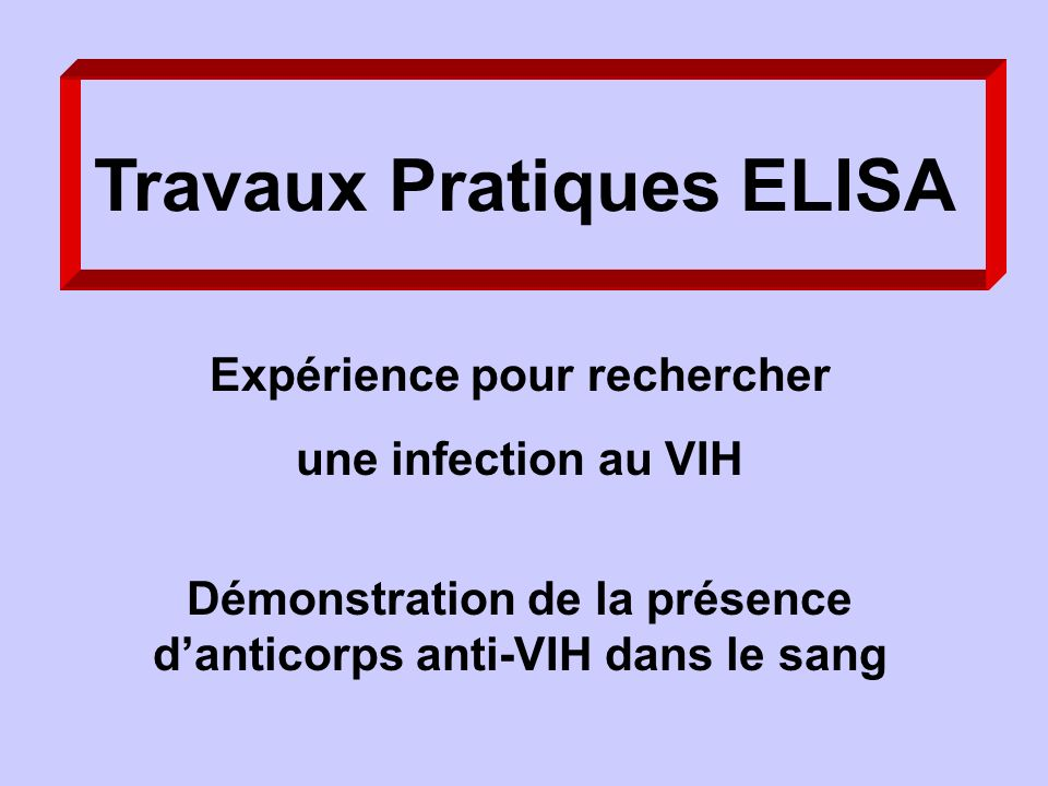 Travaux Pratiques ELISA