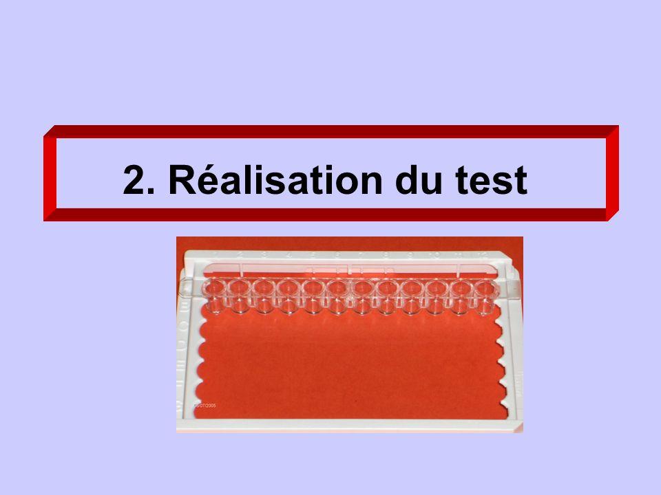 2. Réalisation du test