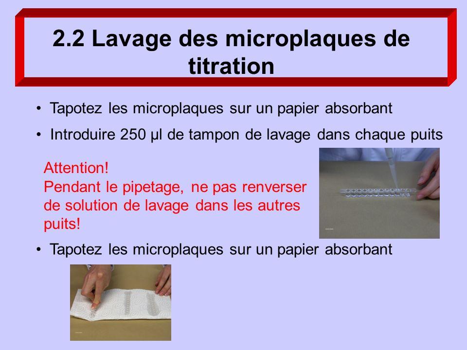 2.2 Lavage des microplaques de titration